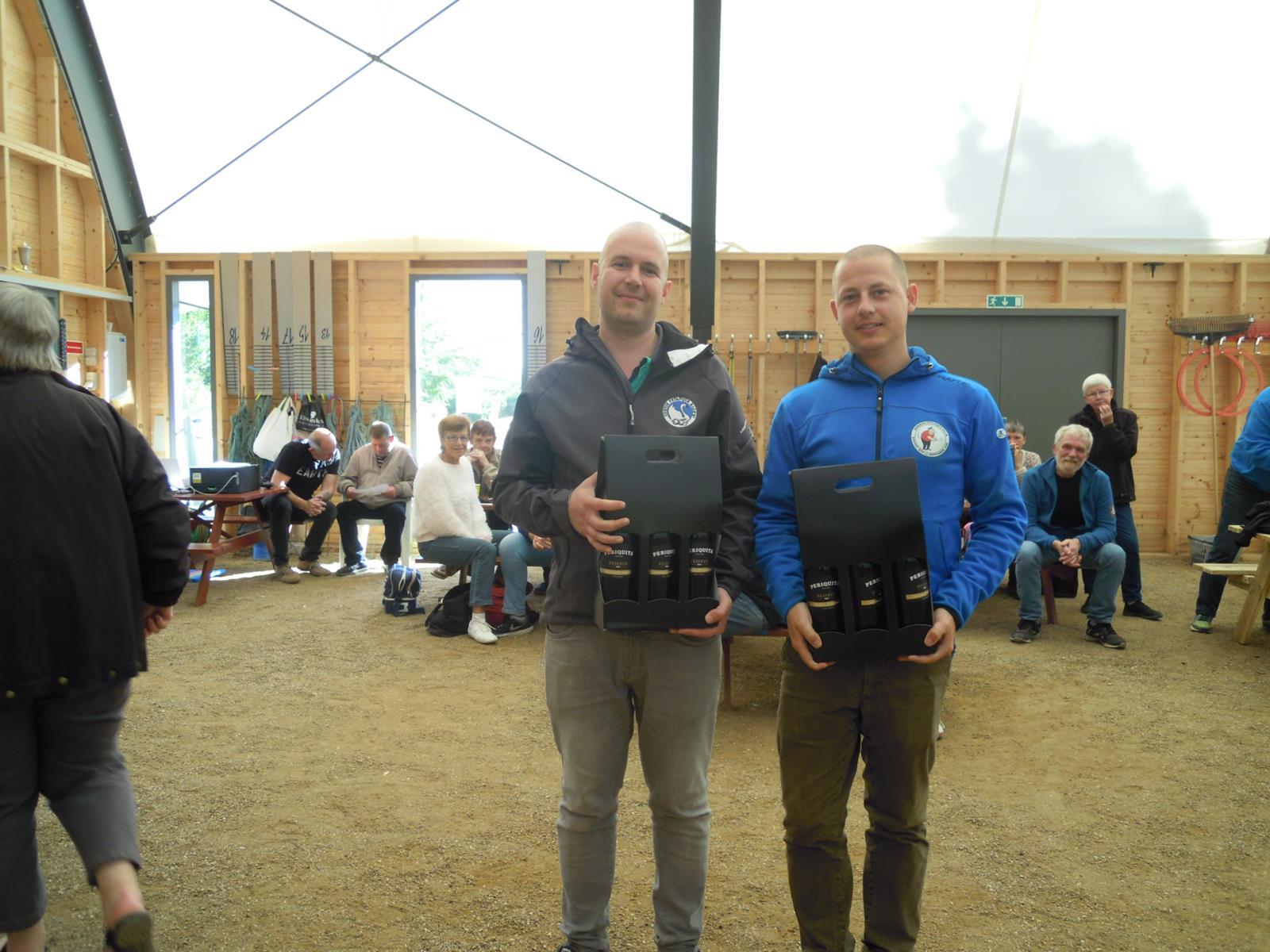 1. plads,Jan Kristensen Vestfyn og Jesper Dreyer Horsens