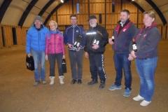 Nr. 1 Ilse og Henrt Larsen Brabrand, nr. 2 Philip og Henrik Malmos Faldsled-Svanninge nr. 3 Brian Taastrup og Anne Marie Bigum Brabrand