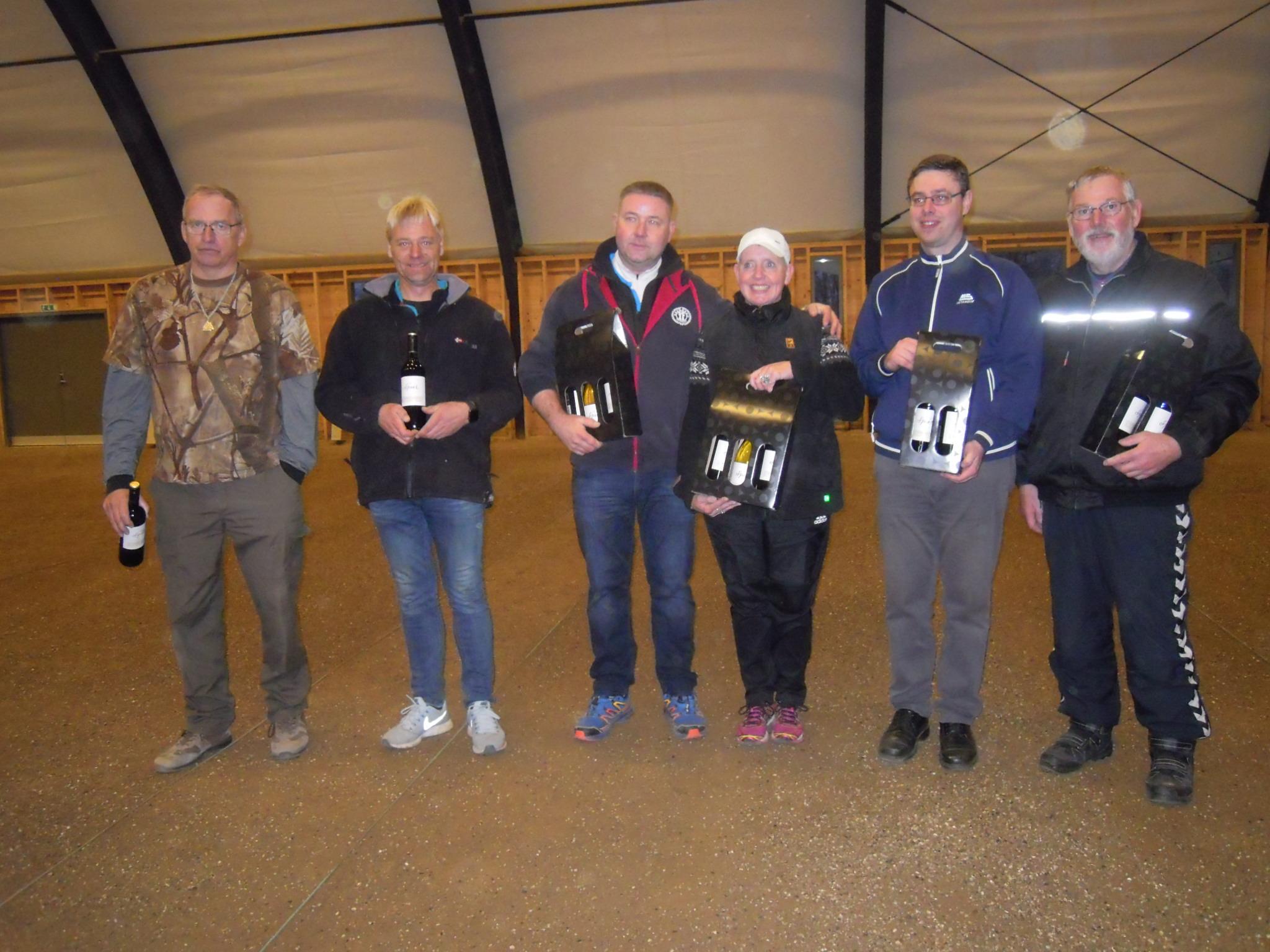 stævne november 2018 , 3. plads Benny og Benny, 1. plads Brian og Betina Brabrand, 2. plads Philip og Henrik Faldsled Svanninge