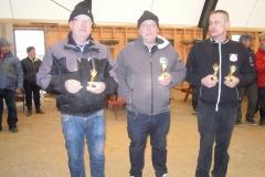 Johnny Hofhøj  og Mulle  OPK nr. 1 i A puljen, nr. 2 i A puljen Christian Friis OPK og Jesper Sele Vestfyn